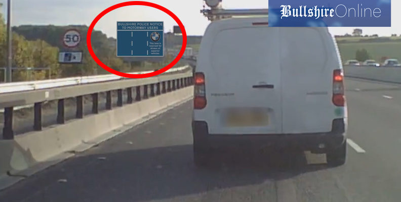 Shocking Yet Accurate Motorway Sign