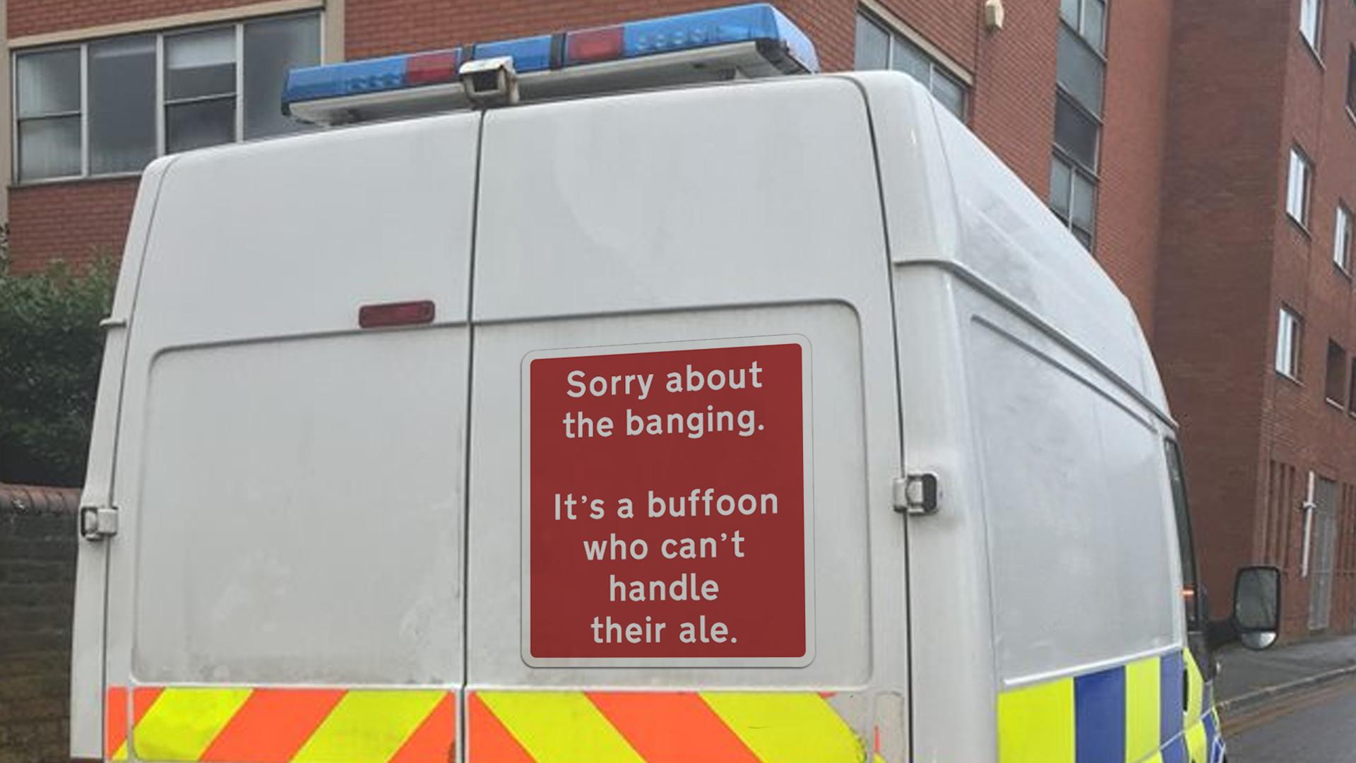 Honest Sign on Riot Van