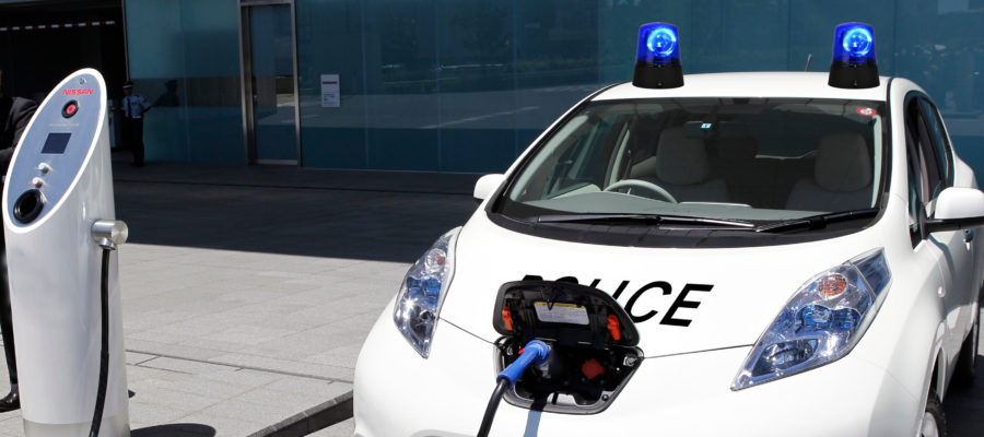 Plugged in Police Car