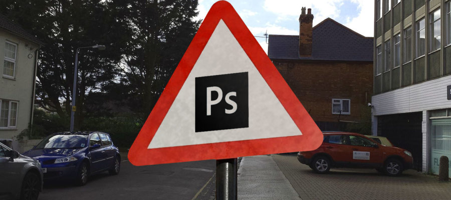 Photoshop Warning Sign