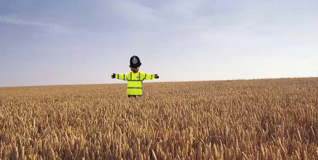 A ScareCop in a Field