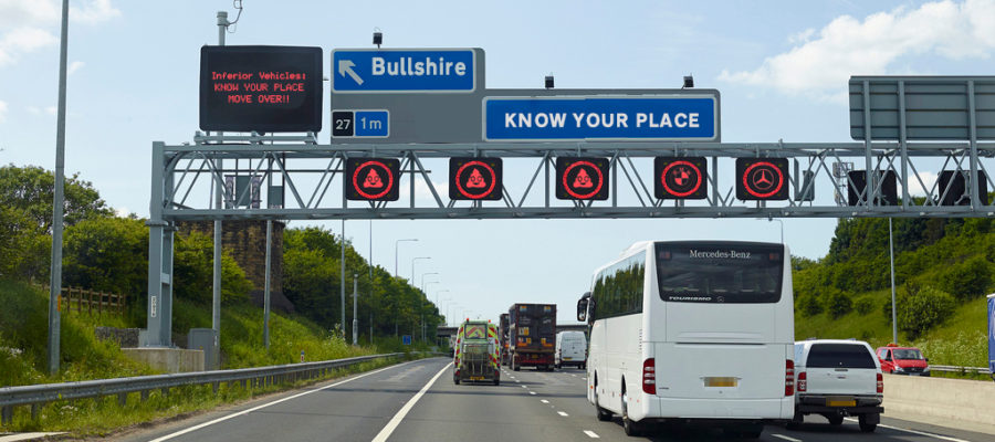 Motorway Signs - Know Your Place