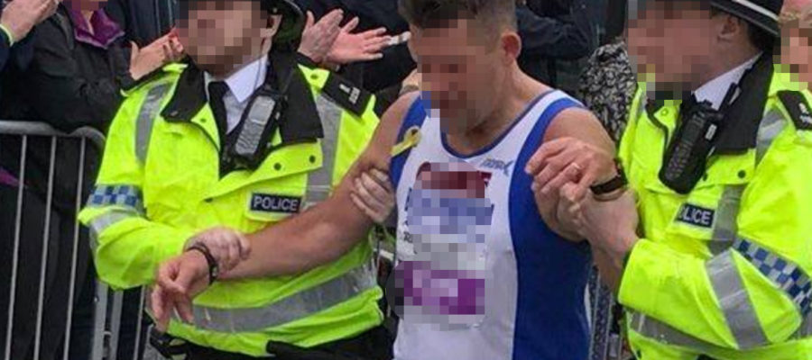 Cops Appear to Arrest Runner