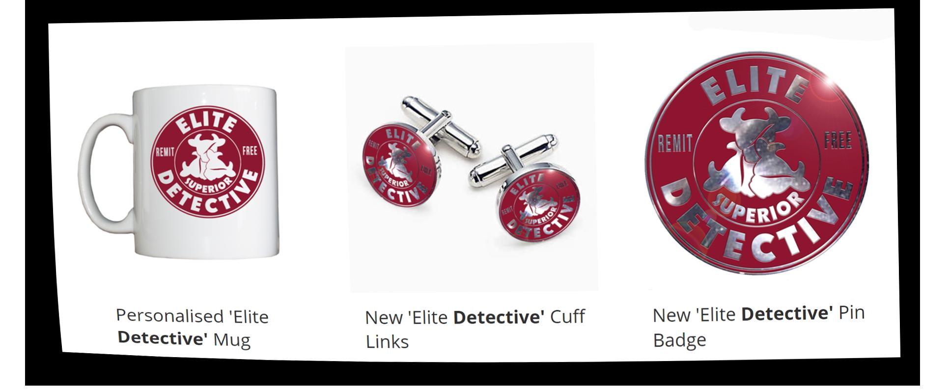 Elite Detective Merchandise Link Image
